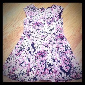 Gap Kids Little Girls Floral, Pleated Dress